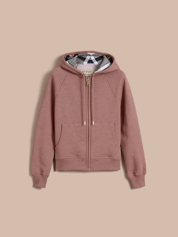 Hooded Cotton Blend Top in Antique Rose - cell image 3