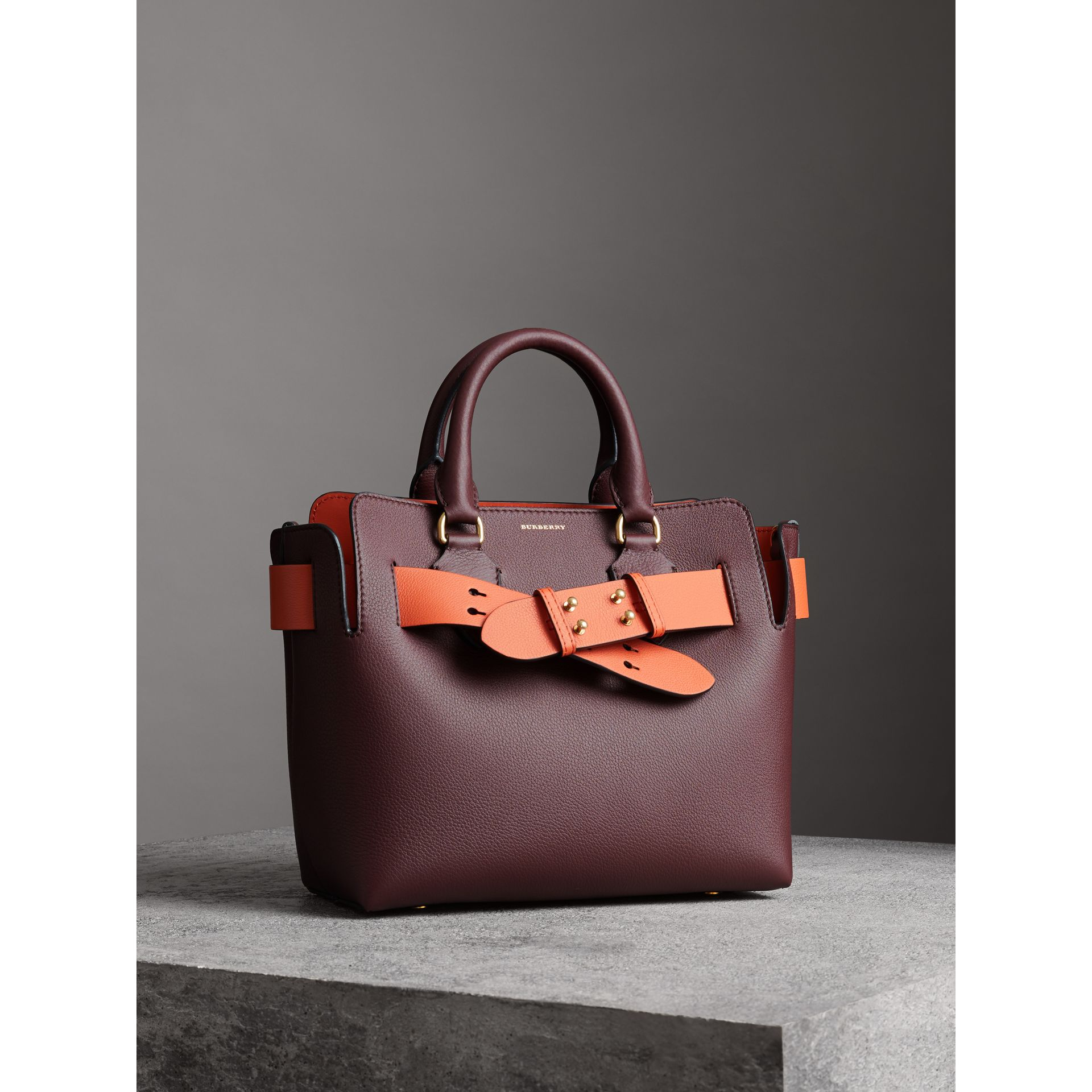 The Small Leather Belt Bag in Deep Claret - Women | Burberry - gallery image 4