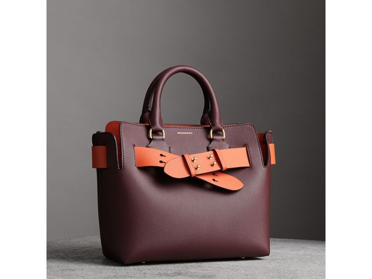 The Small Leather Belt Bag in Deep Claret - Women | Burberry - cell image 4