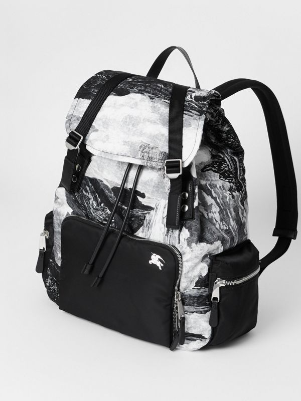 The Extra Large Rucksack in Dreamscape Print in Black/white - Men | Burberry Canada - cell image 2