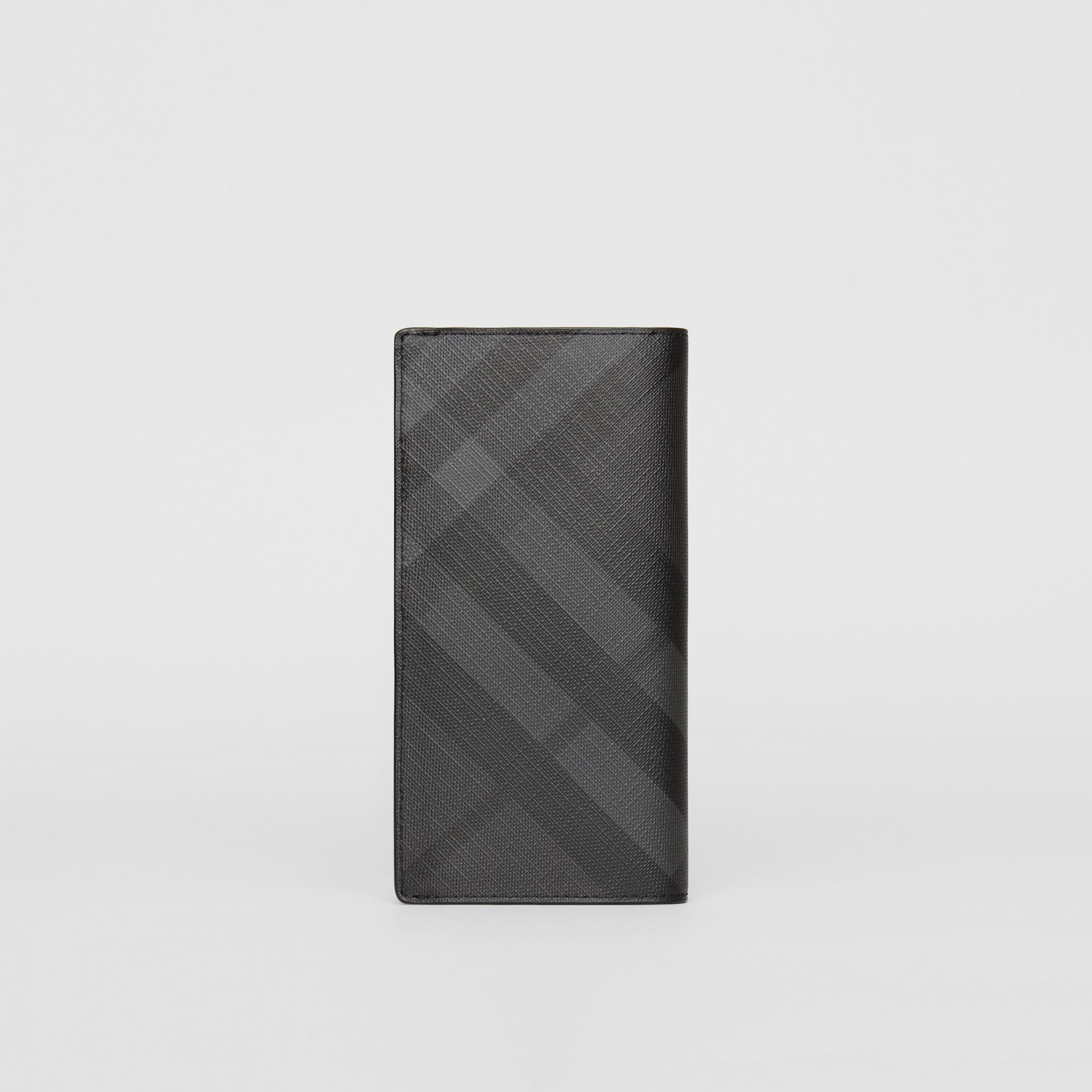 London Check and Leather Continental Wallet in Charcoal/black - Men | Burberry United States - gallery image 5