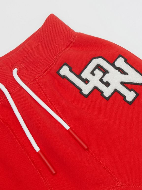 Logo Graphic Cotton Trackpants in Bright Red - Children | Burberry - cell image 1