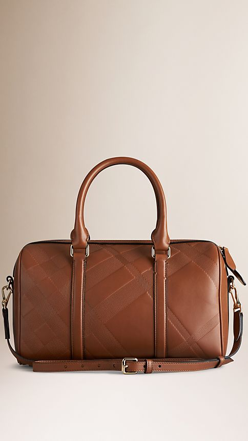 Tan The Medium Alchester in Embossed Check Leather - Image 3