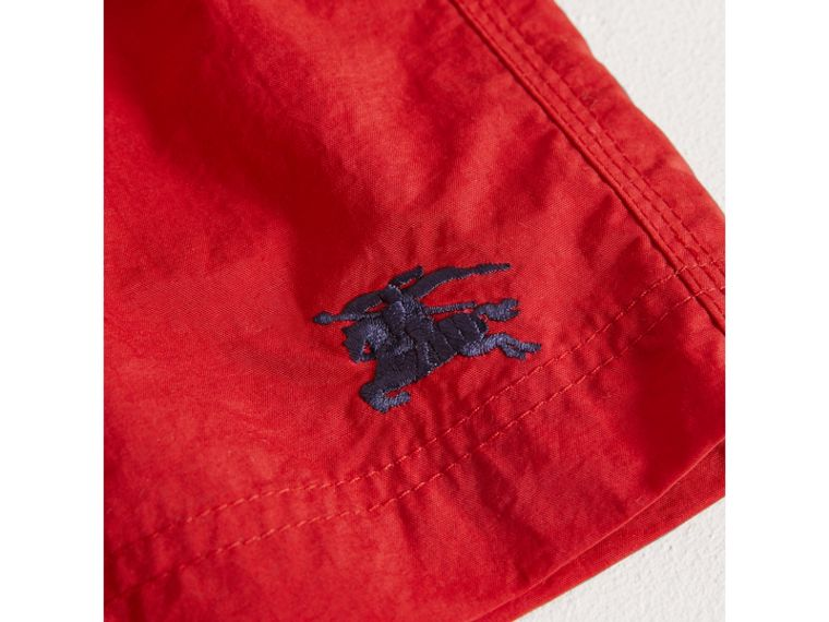 Lightweight Swim Shorts in Military Red - Boy | Burberry - cell image 1