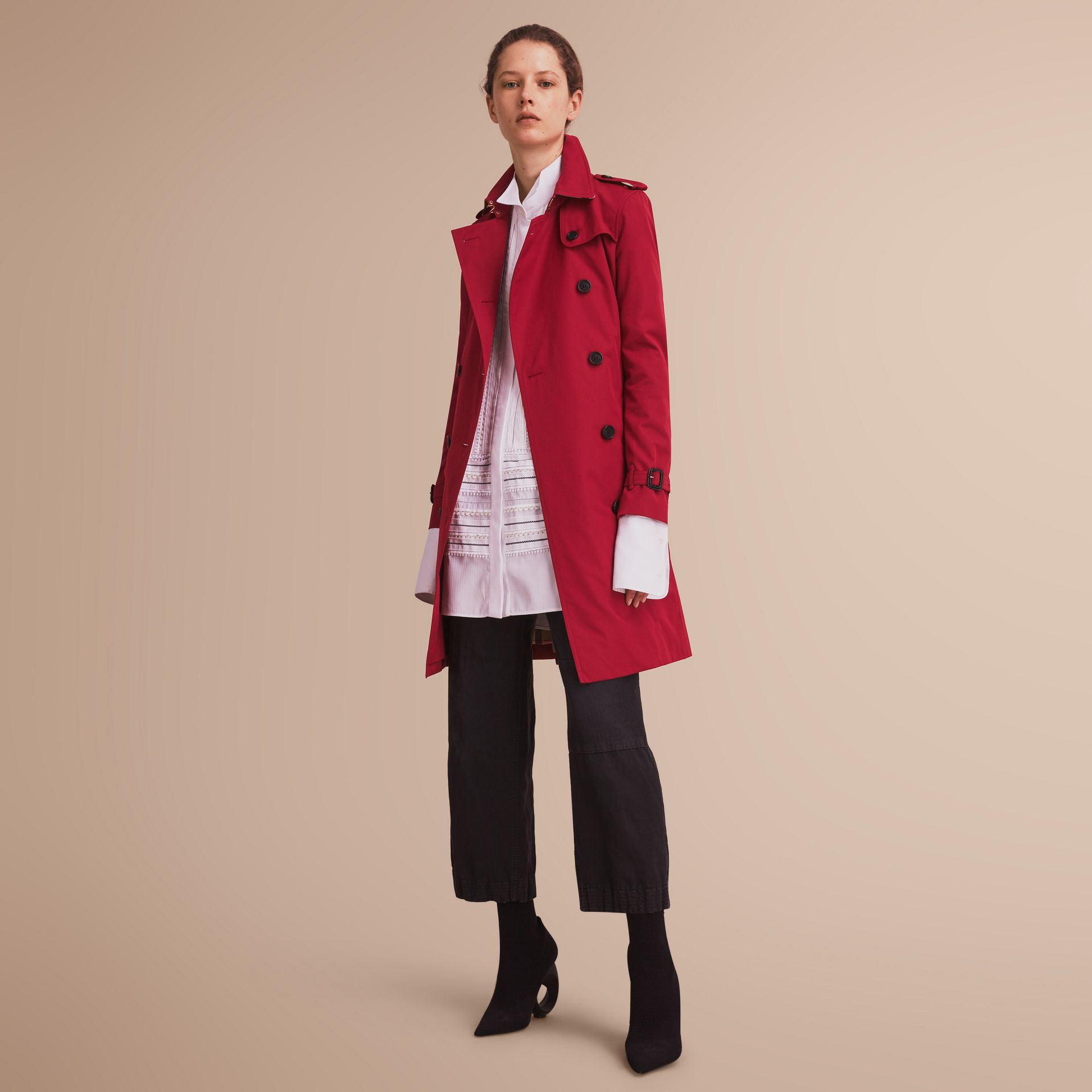 The Kensington – Long Heritage Trench Coat Parade Red - gallery image 7