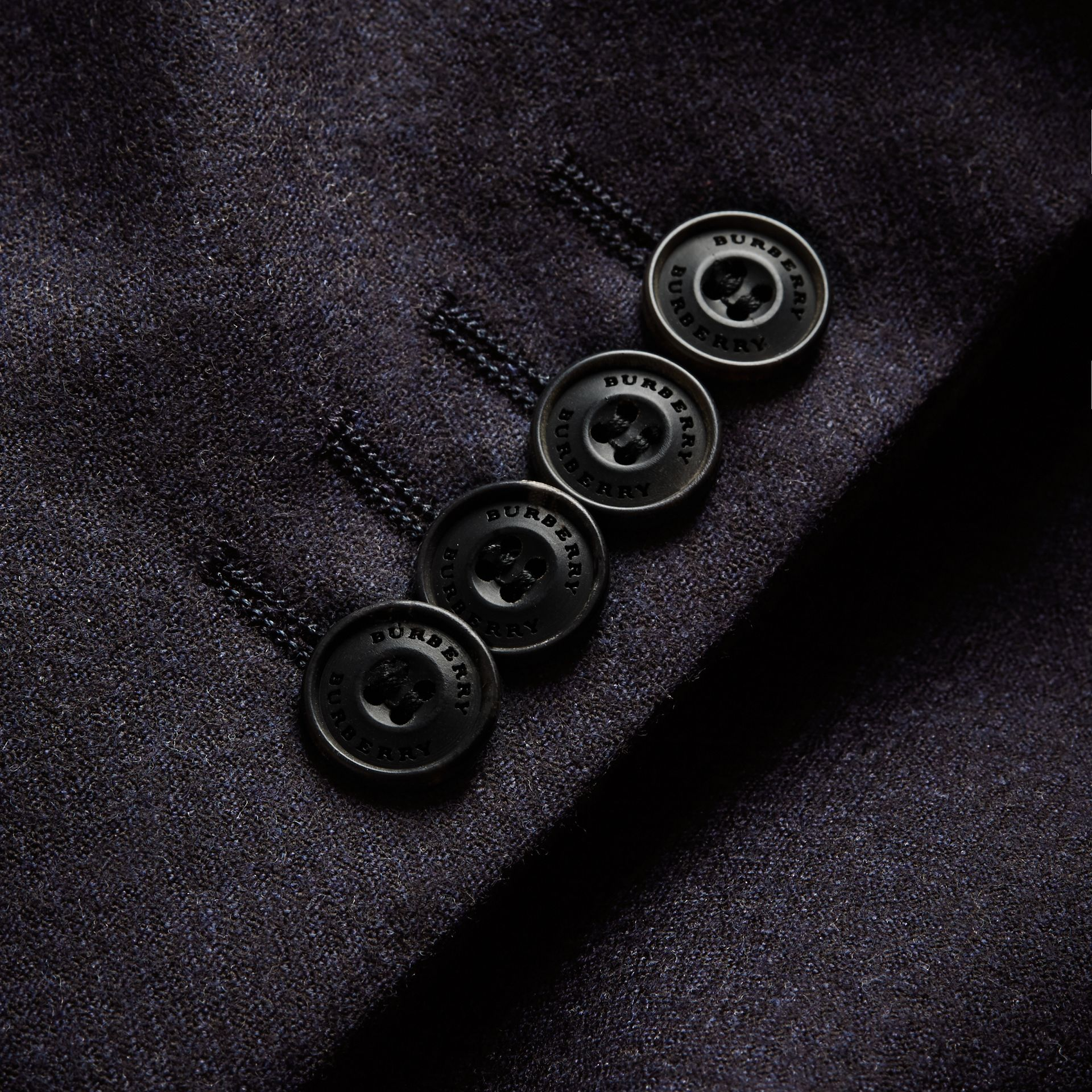 Soho Fit Wool Flannel Suit in Navy Melange - Men | Burberry - gallery image 2