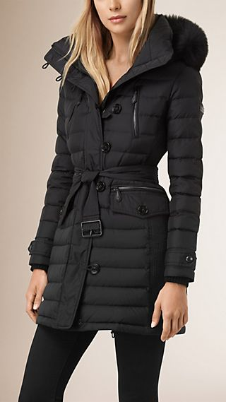 Down-filled Parka with Fur Trim