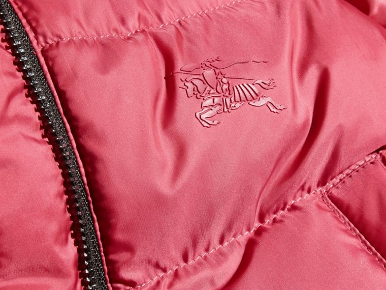 Hooded Down-filled Puffer Jacket with Mittens in Peony Rose - cell image 1