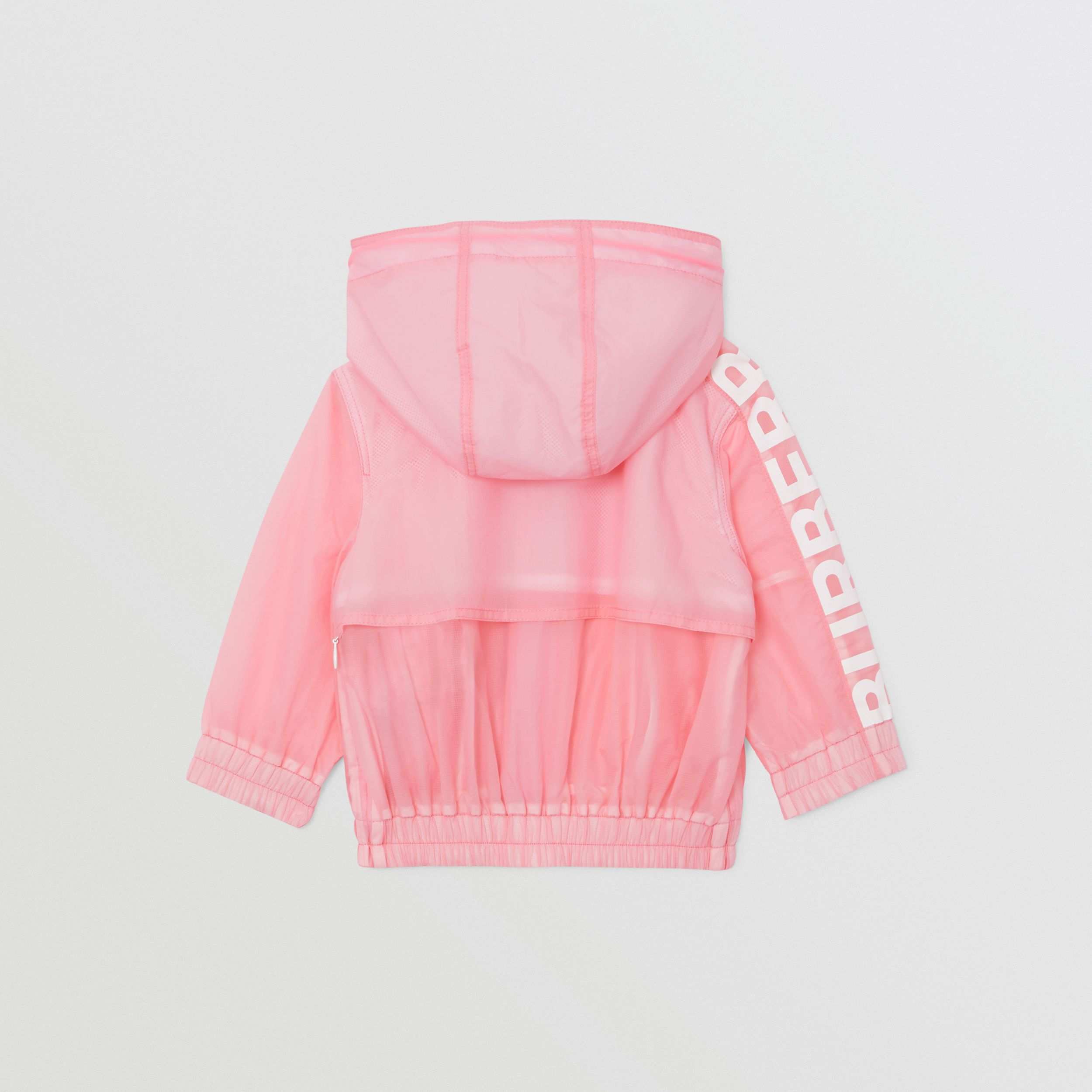 Star Detail Logo Print Lightweight Hooded Jacket in Candy Pink - Children | Burberry - 4