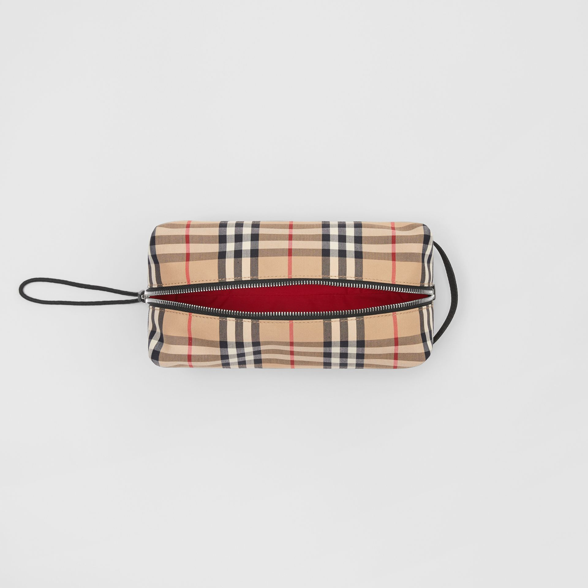 Vintage Check and Leather Pouch in Archive Beige | Burberry Hong Kong S.A.R - gallery image 4