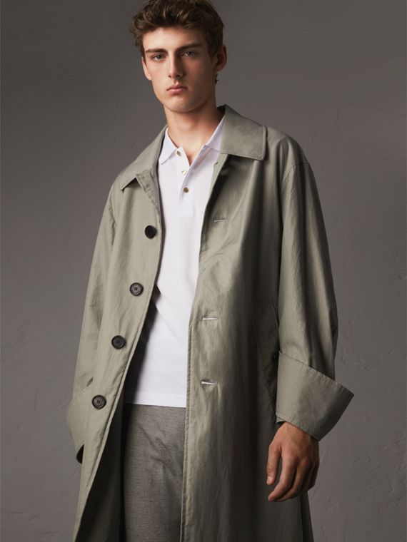 Unisex Tropical Gabardine Car Coat with Exaggerated Cuffs - Men | Burberry