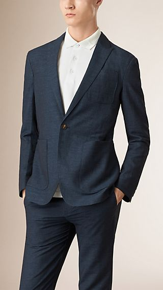 Slim Fit Linen Cotton Blazer