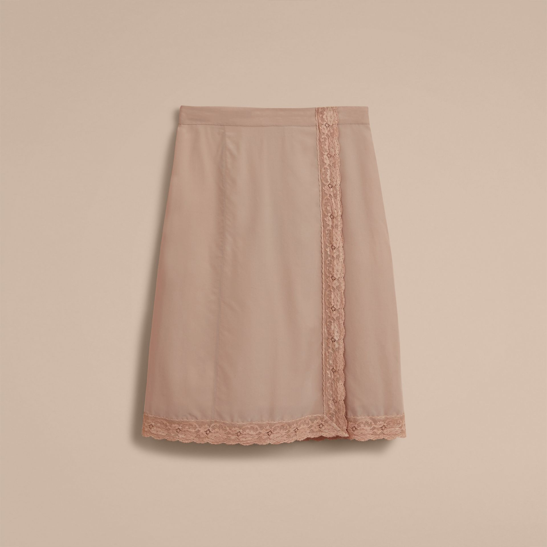 Lace Trim Silk Skirt - gallery image 4
