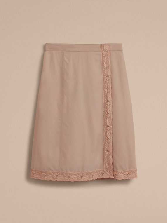 Lace Trim Silk Skirt - cell image 3