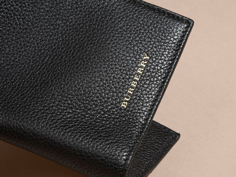 Black Grainy Leather Passport and Card Holder Black - cell image 1
