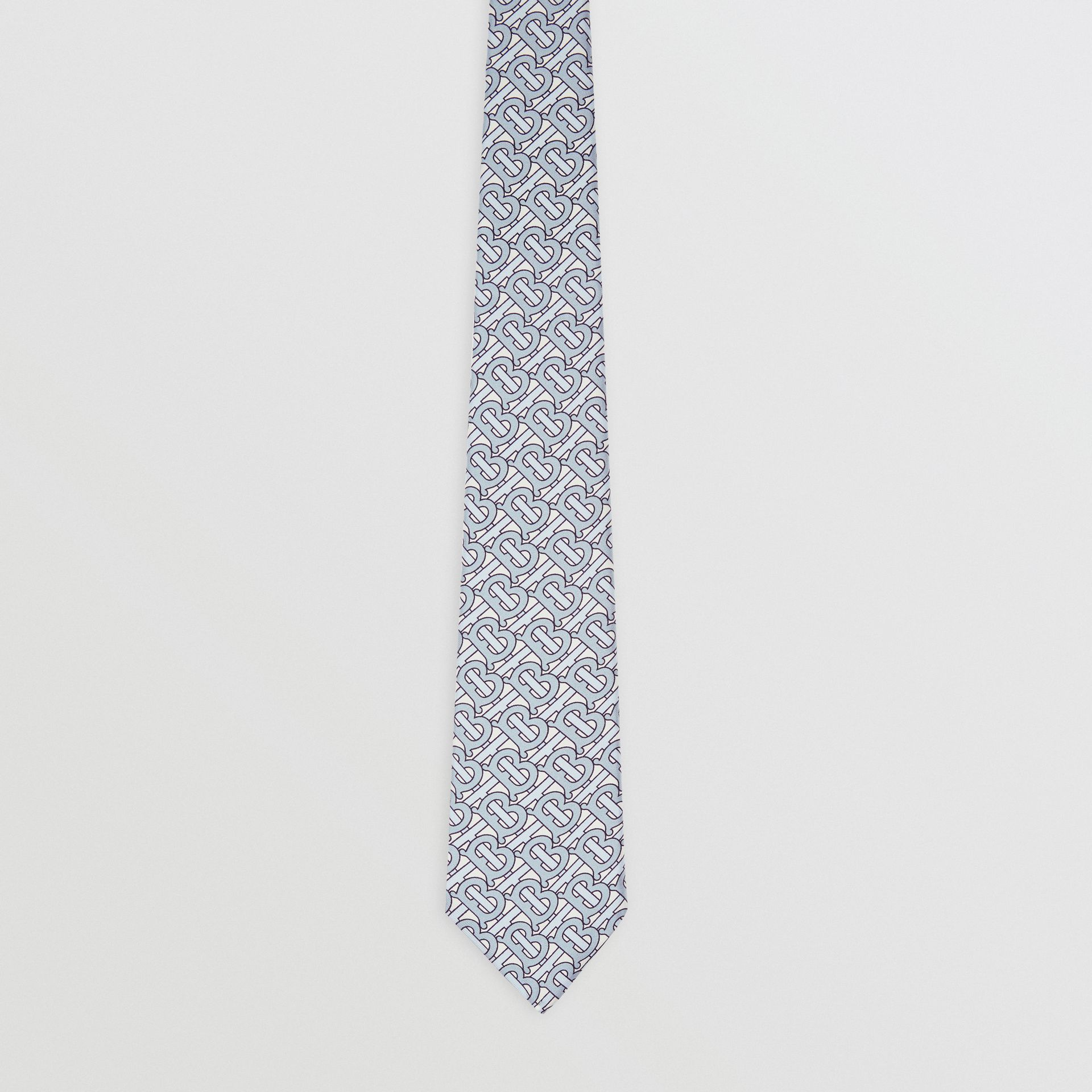 Classic Cut Monogram Print Silk Tie in Pale Blue - Men | Burberry - gallery image 3
