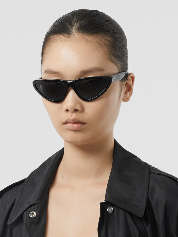 Triangular Frame Sunglasses in Black - Women | Burberry - cell image 2