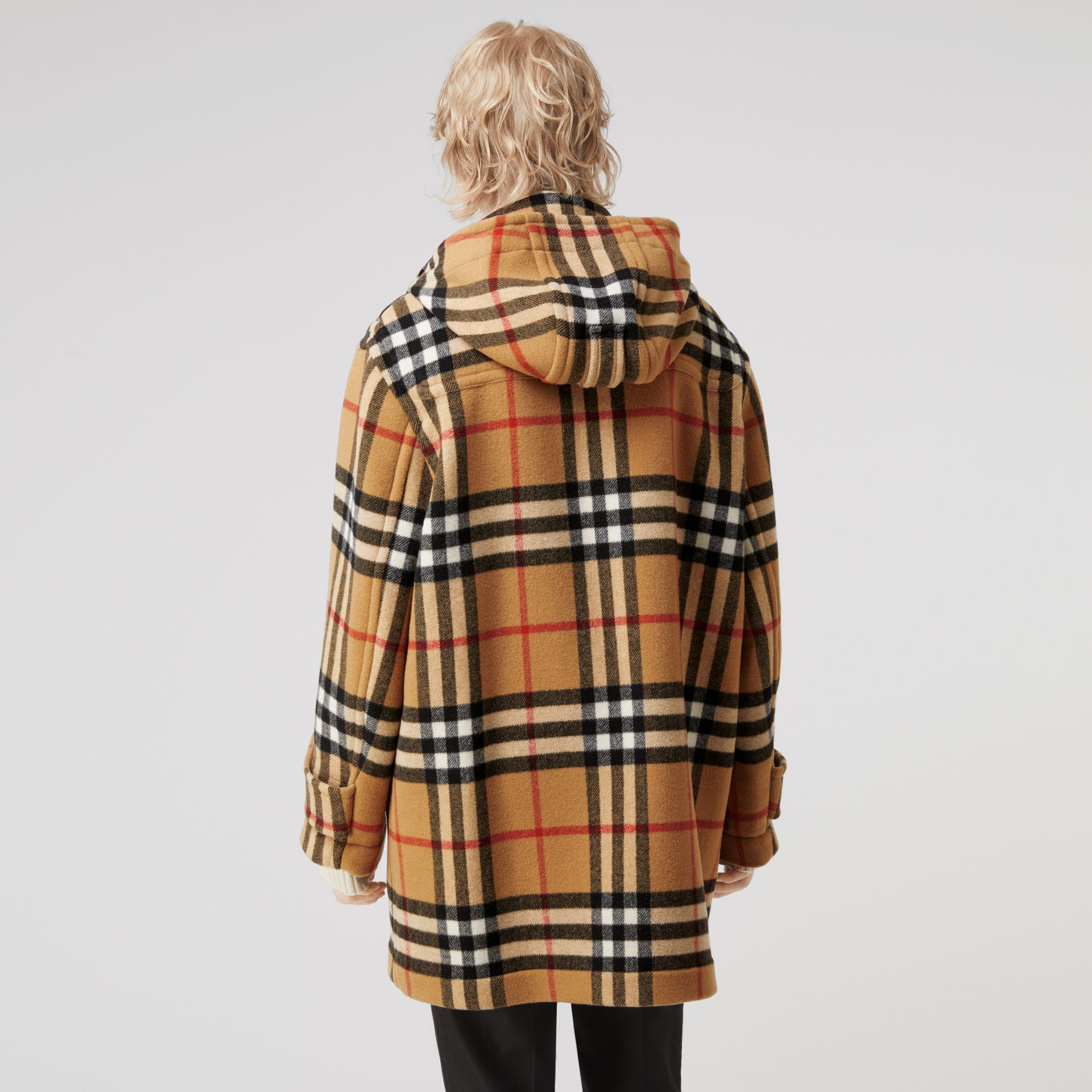 Gosha x Burberry Check Oversized Duffle Coat in Antique Yellow | Burberry Canada - gallery image 5