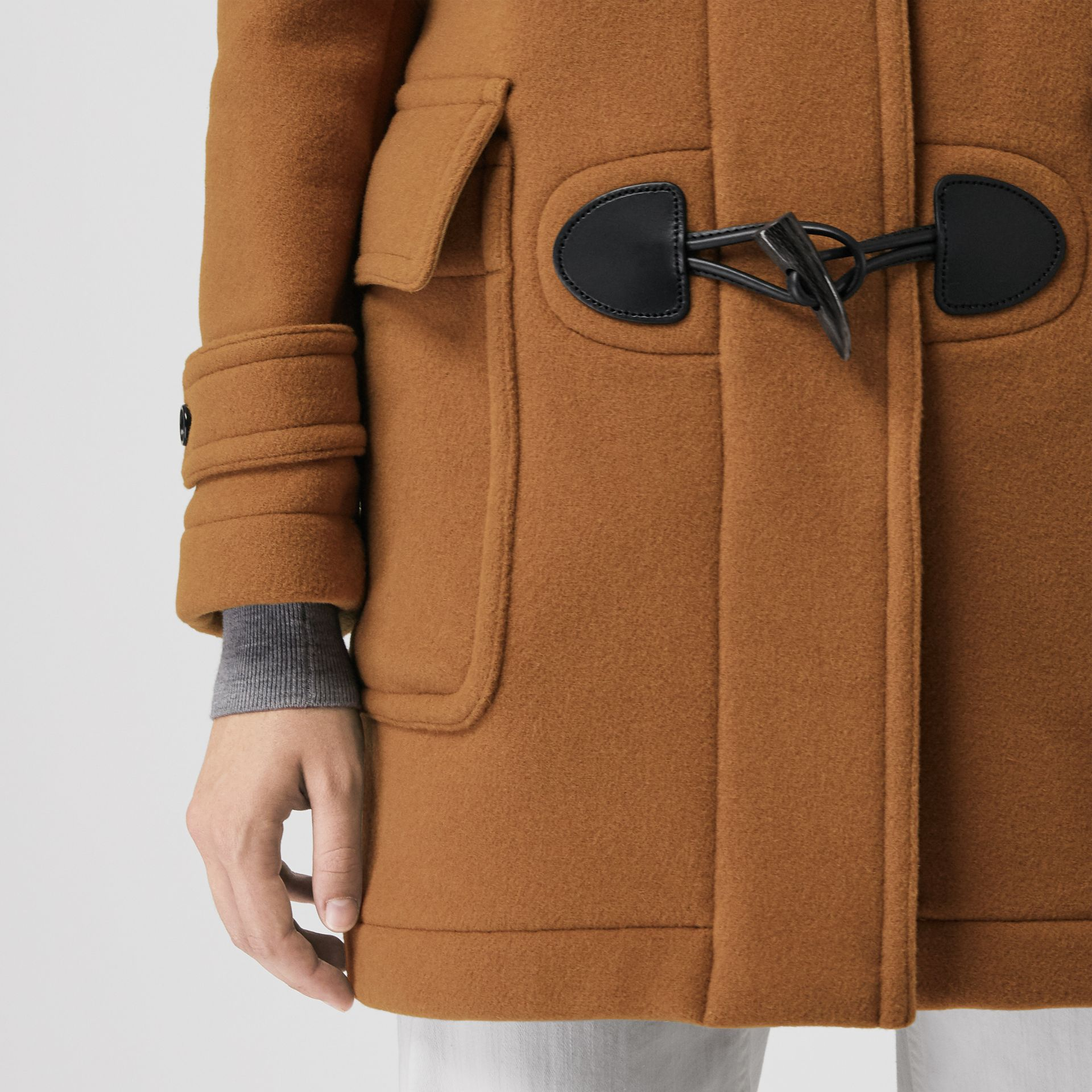 The Mersey Duffle Coat in Mid Camel - Women | Burberry Singapore - gallery image 4