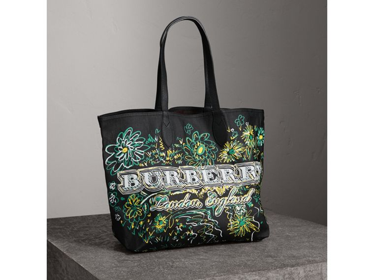 Borsa tote The Doodle media double face (Nero) - Donna | Burberry - cell image 2