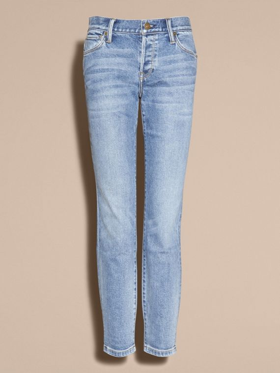 Pale blue Relaxed Fit Stretch Indigo Jeans - cell image 3