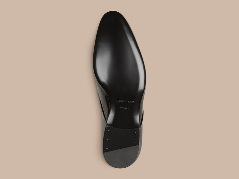 Polished Leather Lace-up Shoes in Black - cell image 4