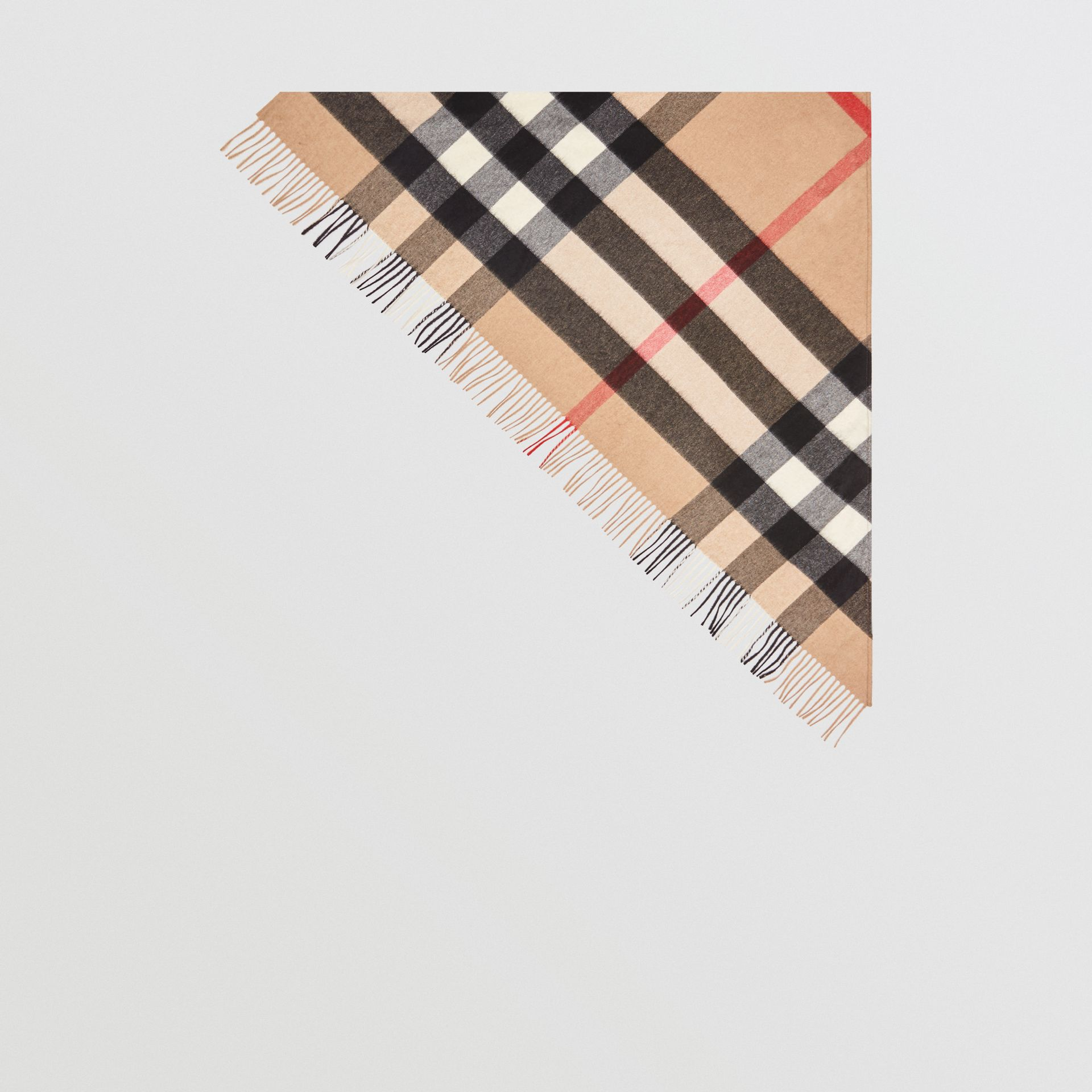 The Burberry Bandana in Check Cashmere in Camel | Burberry - gallery image 3