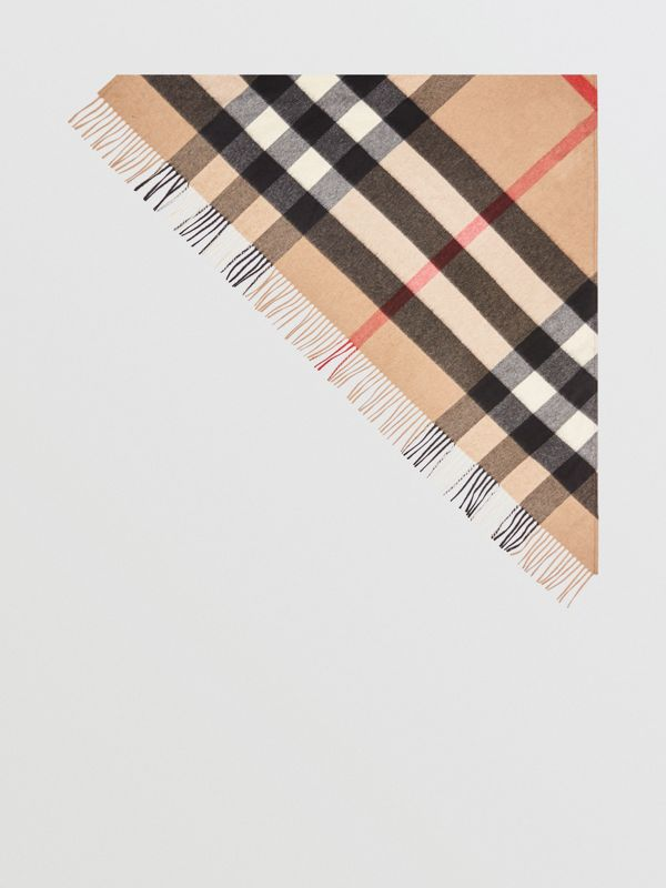 The Burberry Bandana 格紋喀什米爾圍巾 (駝色) | Burberry - cell image 3