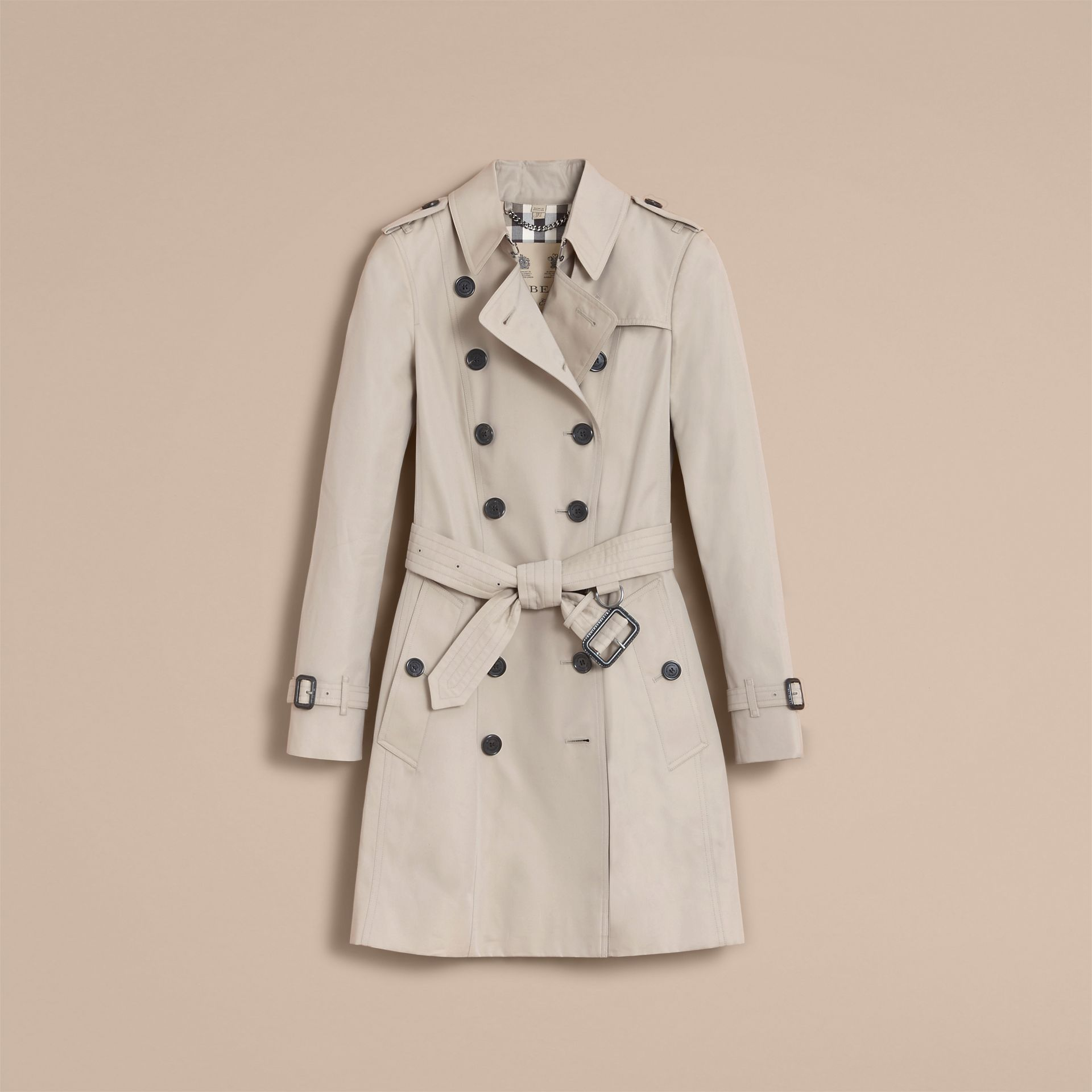 The Chelsea – Mid-length Heritage Trench Coat Stone - gallery image 4