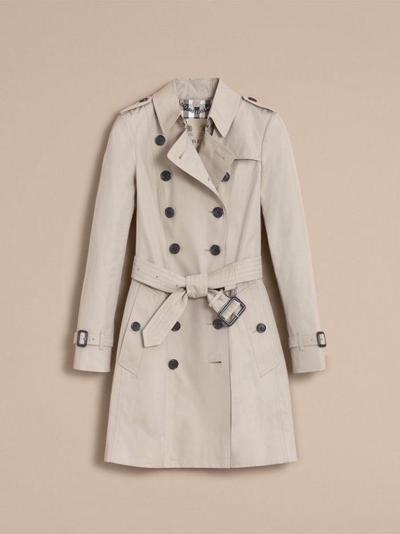 The Chelsea – Mid-length Heritage Trench Coat in Stone - Women | Burberry Singapore - cell image 3