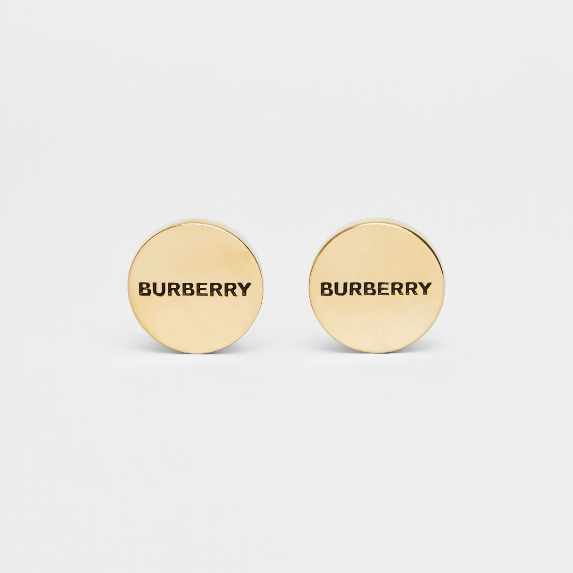 Engraved Gold-plated Cufflinks in Light - Men | Burberry - gallery image 0