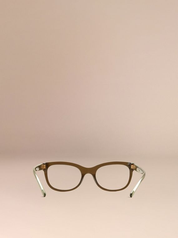 Olive Check Detail Oval Optical Frames Olive - cell image 2