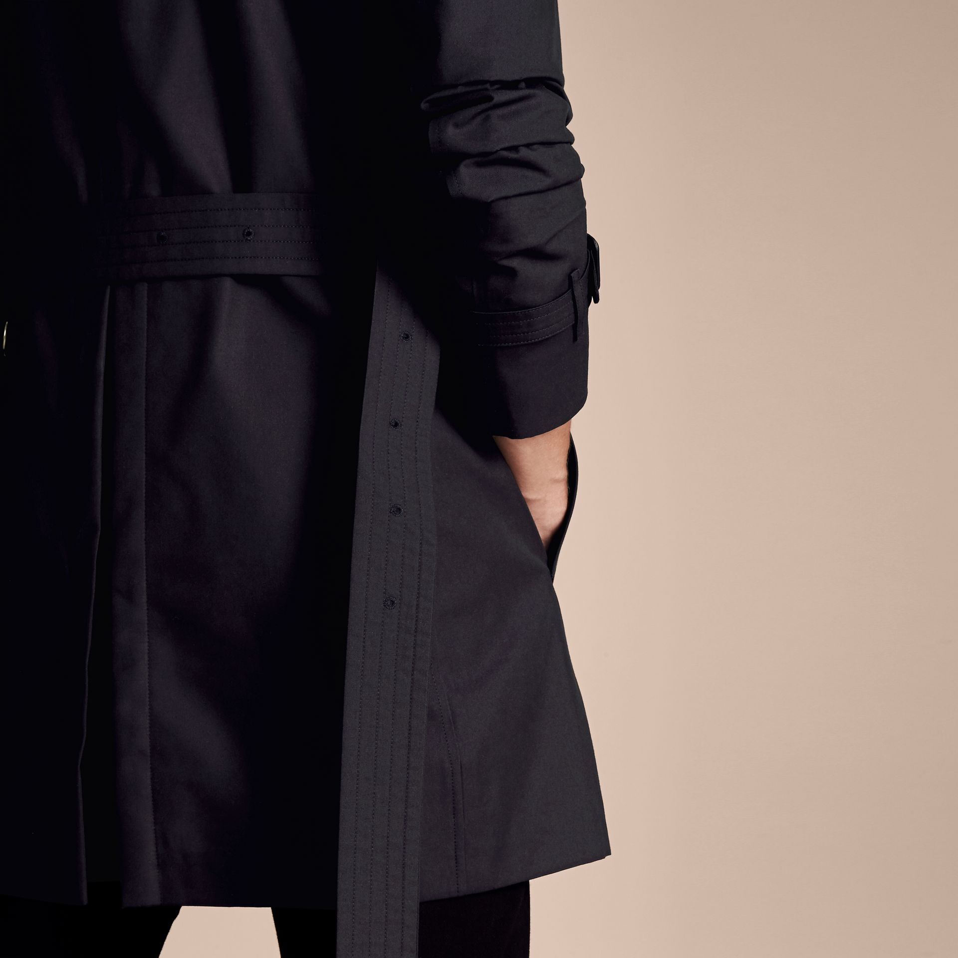 Navy The Sandringham - Trench coat Heritage medio Navy - immagine della galleria 6