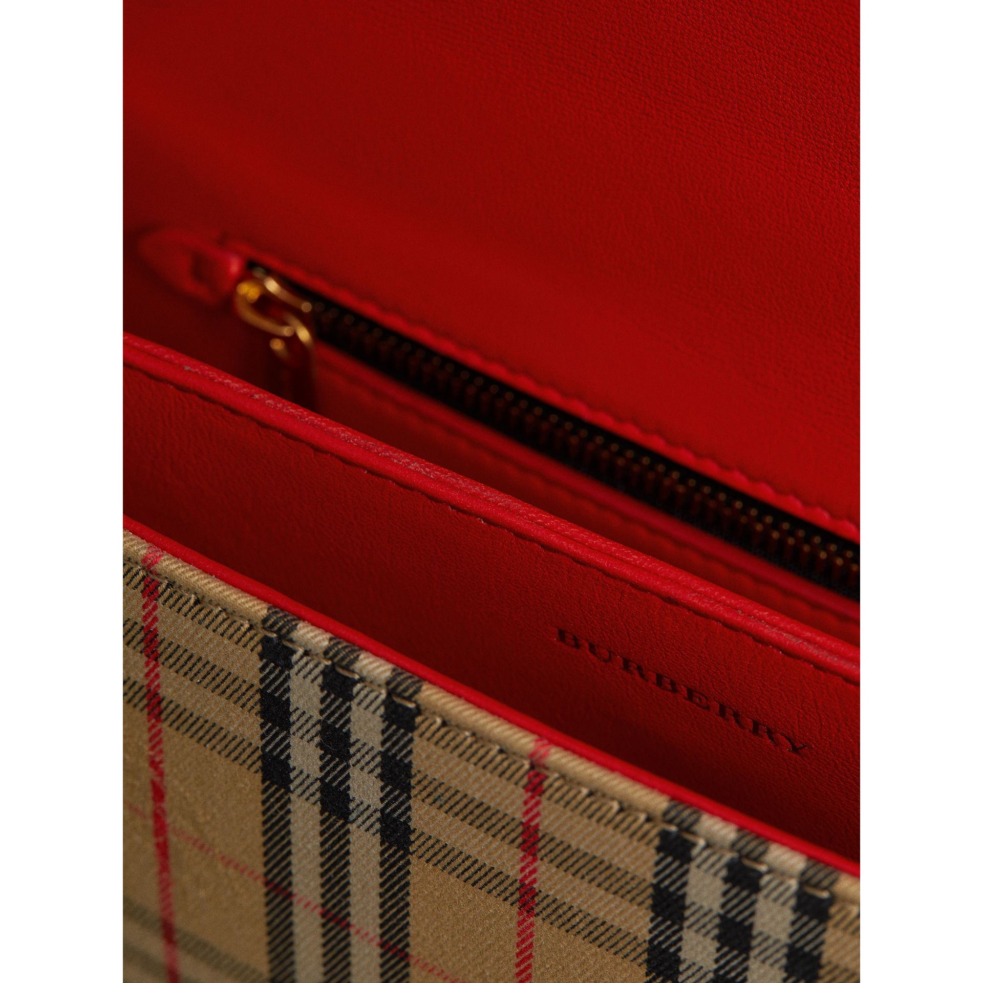 The 1983 Check Link Bag with Patent Trim in Bright Red - Women | Burberry United States - gallery image 5
