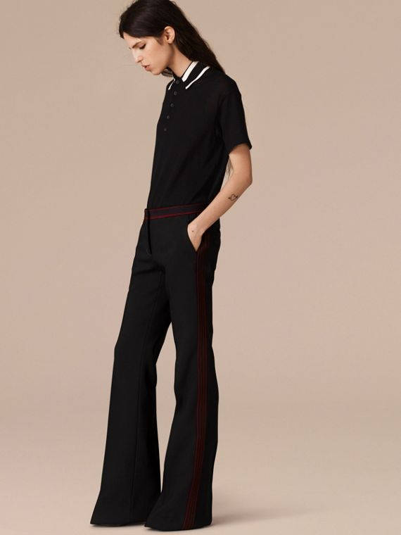 Black Stretch Boot-cut Trousers - cell image 3