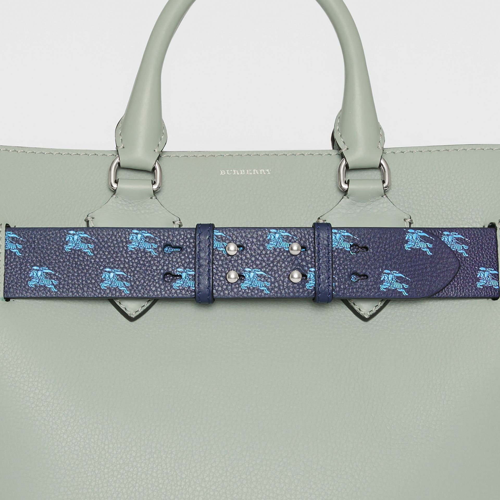The Medium Belt Bag EKD Leather Belt in Regency Blue - Women | Burberry - gallery image 1
