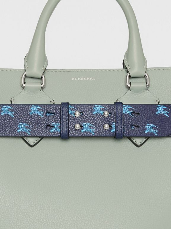 The Medium Belt Bag EKD Leather Belt in Regency Blue - Women | Burberry Australia - cell image 1