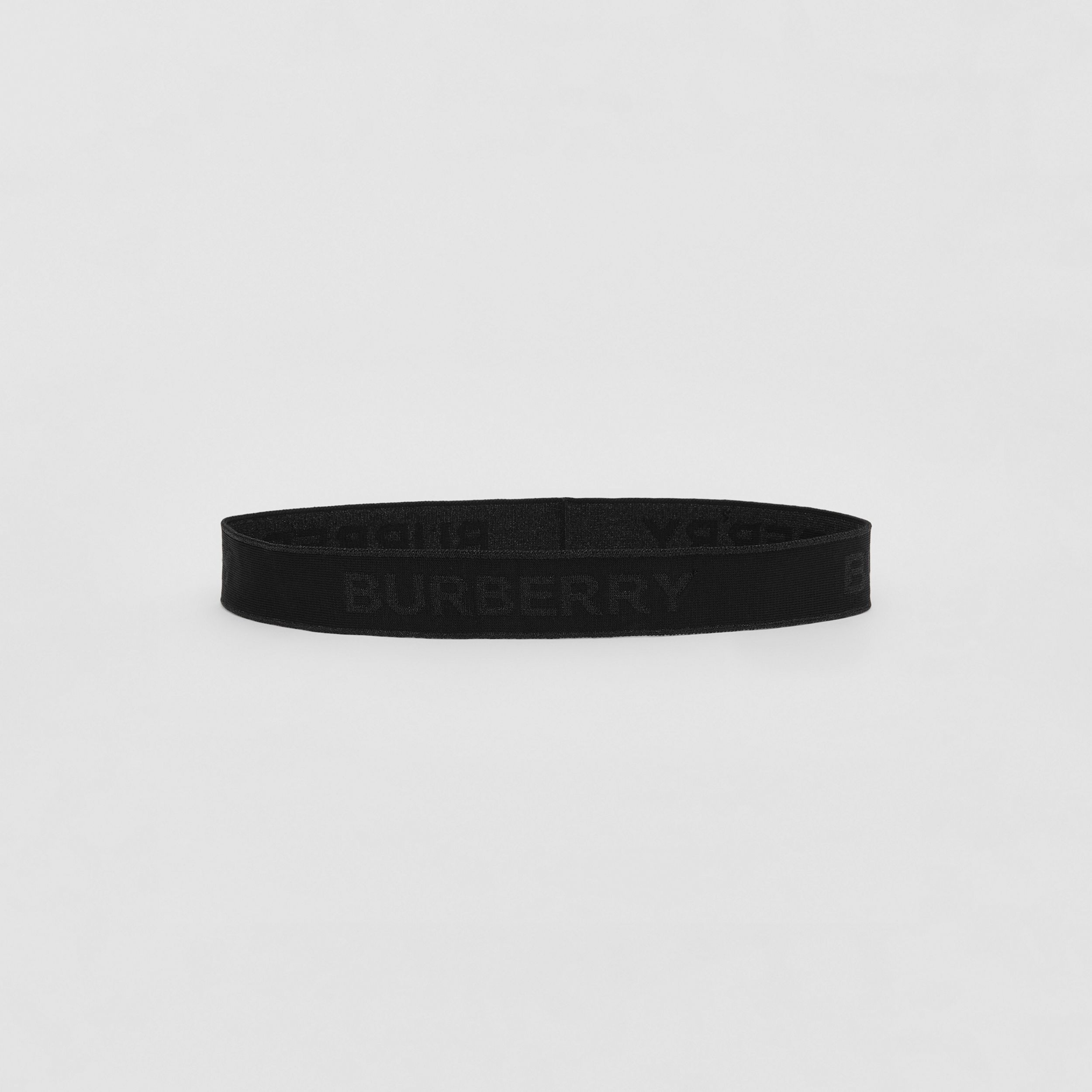 Logo Jacquard Headband in Black | Burberry Canada - 1