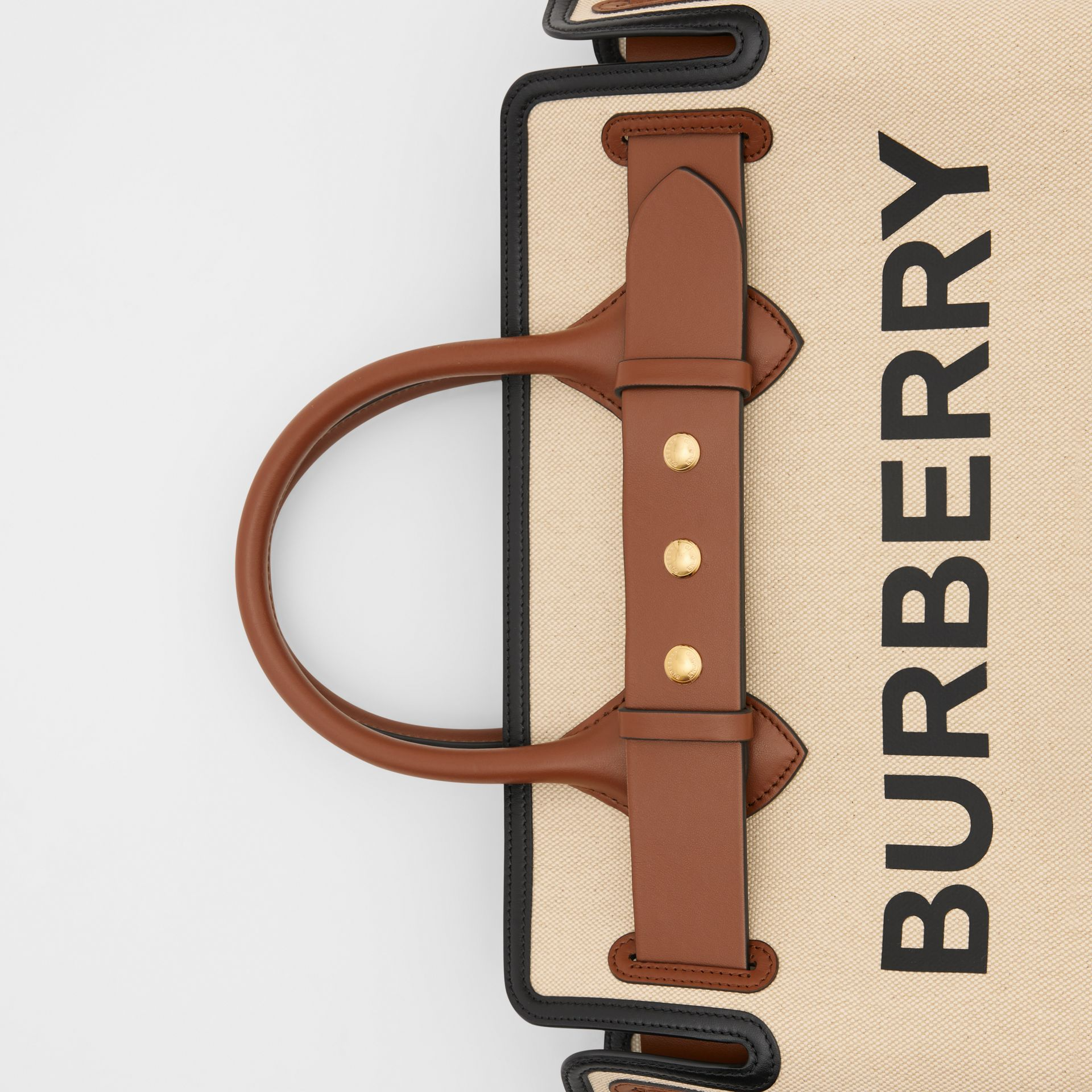 The Medium Cotton Canvas Triple Stud Belt Bag in Malt Brown/black - Women | Burberry Australia - gallery image 8