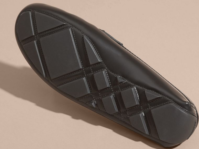 Black Tasselled Polished Leather Loafers Black - cell image 4