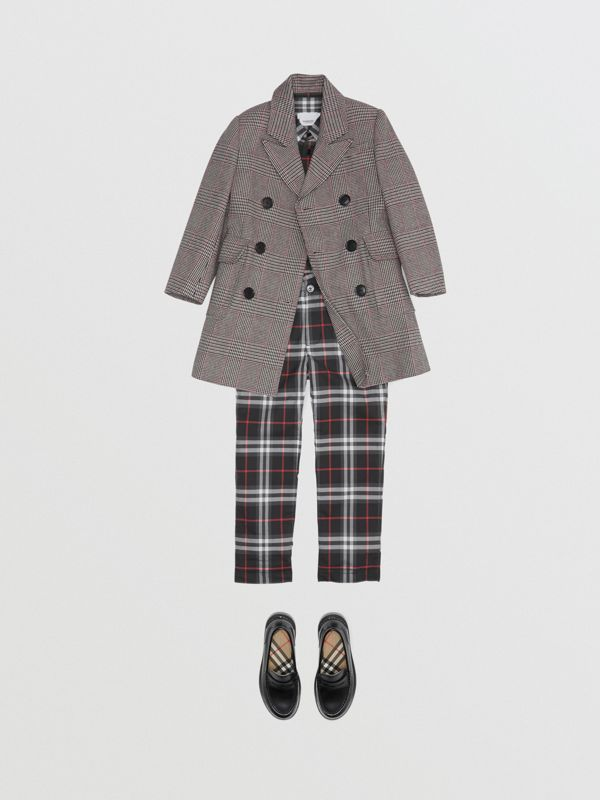 Vintage Check Cotton Tailored Trousers in Black - Boy | Burberry - cell image 2
