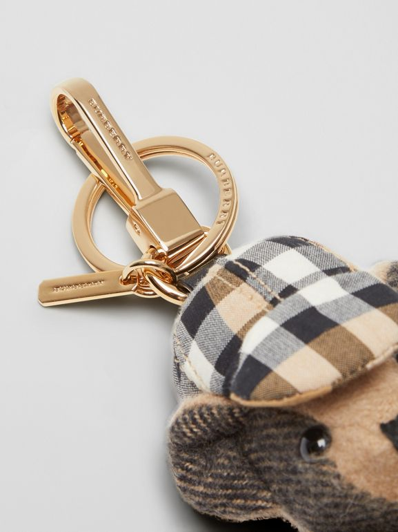 Thomas Bear Charm in Vintage Check Trench Coat in Camel | Burberry - cell image 1