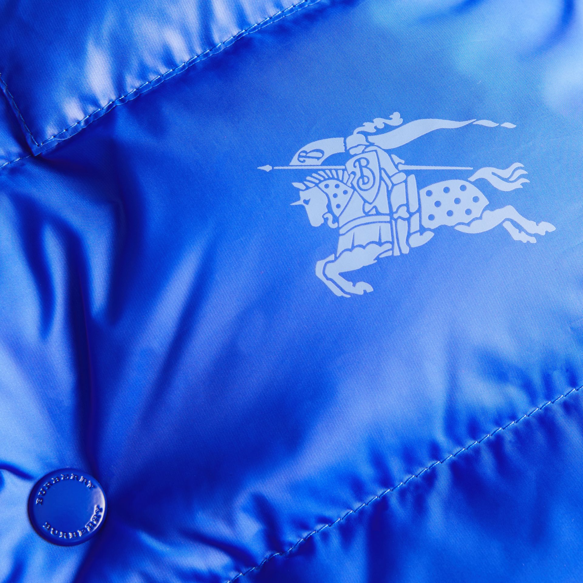 Reversible Showerproof Down-filled Hooded Gilet in Bright Spectrum Blue | Burberry Singapore - gallery image 1
