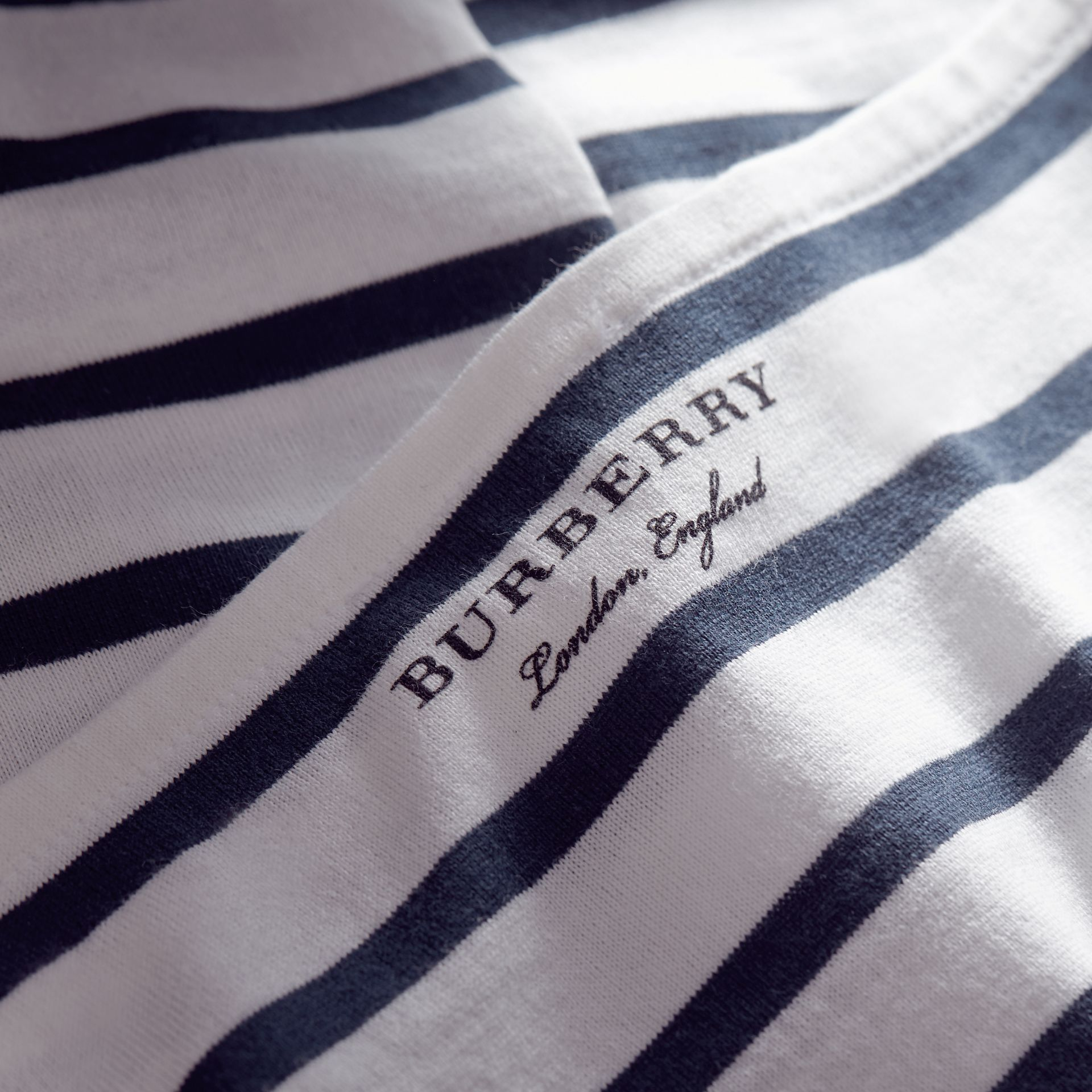 Short-sleeve Striped Jersey Dress - Women | Burberry - gallery image 2