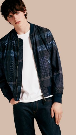 Lightweight Check Bomber Jacket