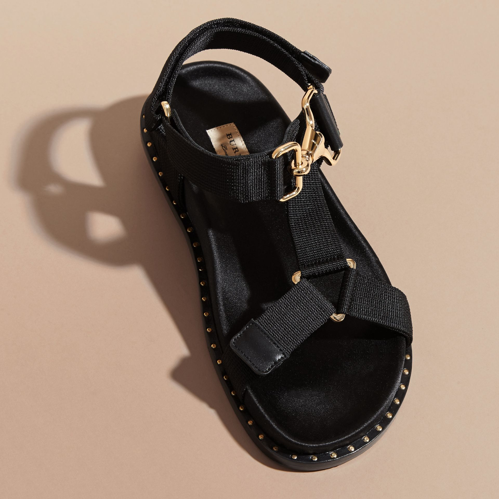 Hardware Detail Strappy Sandals - Women | Burberry - gallery image 4
