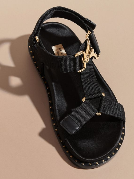 Hardware Detail Strappy Sandals - Women | Burberry - cell image 3