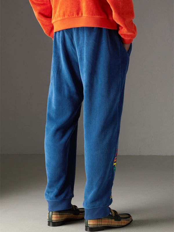 Archive Logo Towelling Sweatpants in Canvas Blue | Burberry Australia - cell image 2
