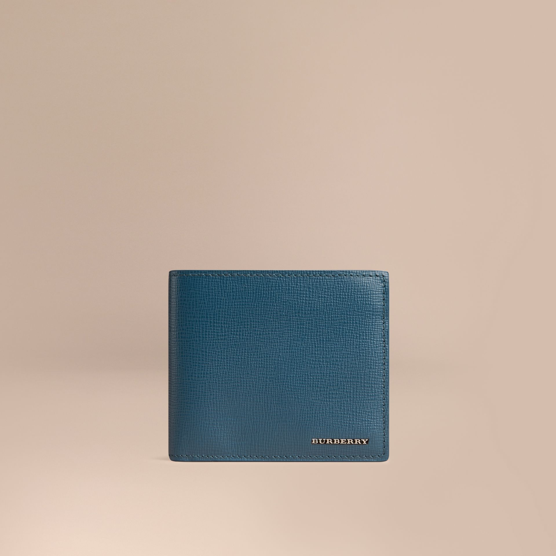 Mineral blue London Leather Folding Wallet Mineral Blue - gallery image 1