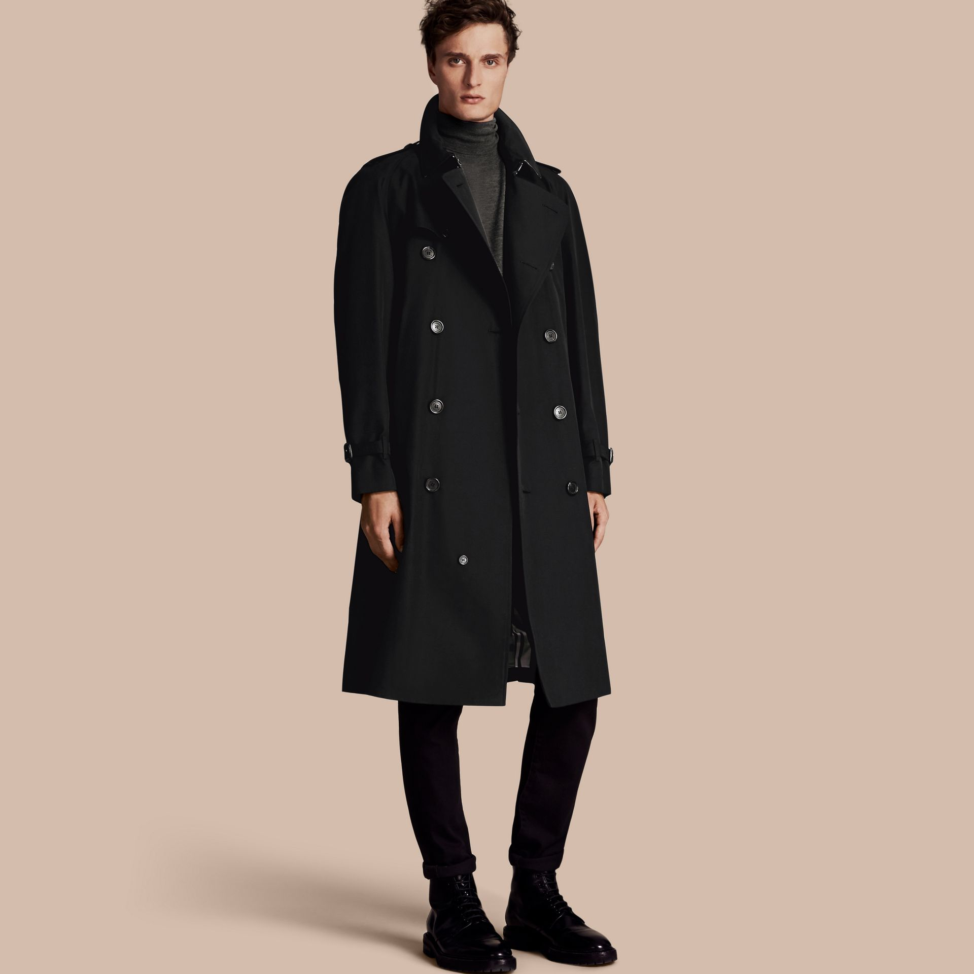 Black The Westminster – Long Heritage Trench Coat Black - gallery image 1